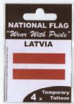 Latvia Country Flag Tattoos.